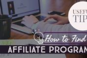 useful tips on how to find affiliate programs